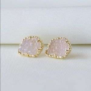 KS Tessa in Iridescent Drusy Gold Earrings